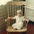 Bethany in the rocking chair 1982