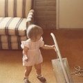 Bethany vacuuming