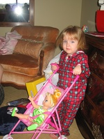 Maggie with baby stroller and Tinkerbell