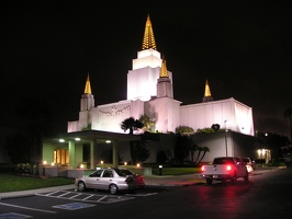 Oakland Temple at Night
