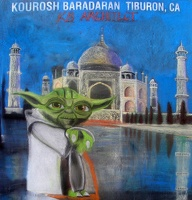Yoda at the Taj Mahal