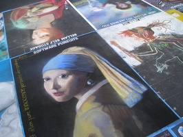 Girl with a Pearl Earring in chalk
