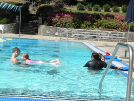 Swim lessons at Marin pool